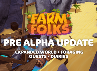 Pre Alpha Update - Quests, Diaries, Expanded game world and Foraging!