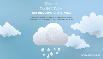 Rainy Day - Crytivo offering a 30% discount on every game.
